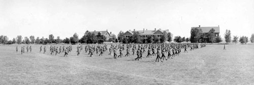 Soldiers on Parade Ground, Ft. Lincoln 1916
