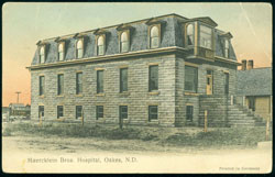 Maercklein Brothers Hospital Oaks ND 1910