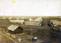 Train Depot and Main St. Upham ND