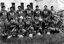 Football Team, Fort Totten ND 1953
