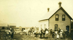 Van Camp Family and  Farmhouse ca 1900