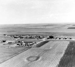 Aerial View of Big Bend and Silver City ND 09-23-1947