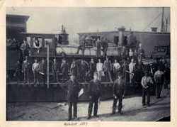 First Passenger train west out of Minot, St. Paul Minneapolis & Manitoba Railroad 1887