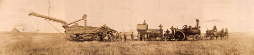 Threshing North Dakota