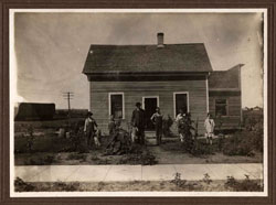 Connelly Family in front of home, Berthold ND 1916