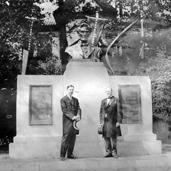Men with Lincoln Bust in Norway
