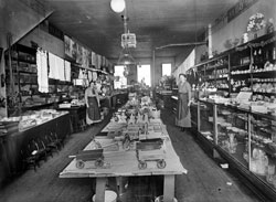 Katie Graf Donczik and Miss Klussman Sales Clerk General Store, New Salem ND 1915