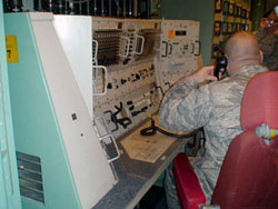 Soldier at control panel, Oscar Zero 2008