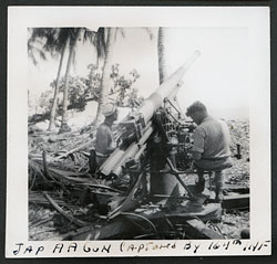 Japanese Anti-Aircraft Gun Captured by 164th Infantry