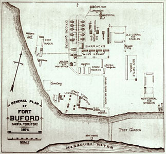 General Plan Map of Fort Buford 1874