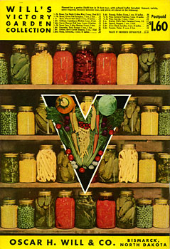 Will Seed Catalog Back Cover 1944 Victory Garden Collection