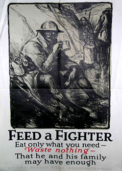 Feed a Fighter World War 1 poster