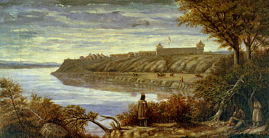 Detrobriand Painting of Fort Berthold