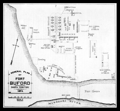 General Plan of Fort Buford DT, 1874