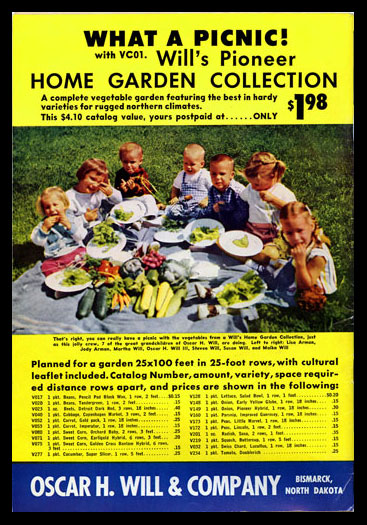 1958 Will's Seed Company Catalog Back Cover