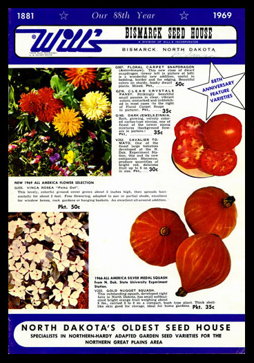 1969 Will's Seed Company Catalog Cover