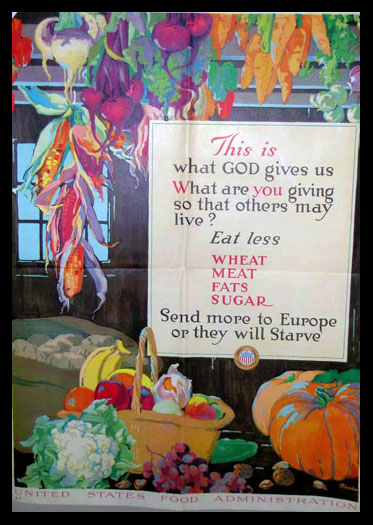 Wheat, Meat, Fats, and Sugar poster