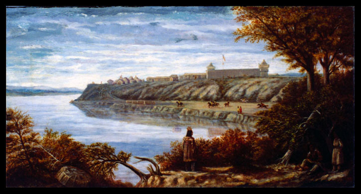 Fort Berthold painting by De Trobriand