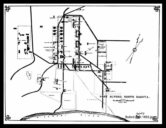 Fort Buford Plan, 1893