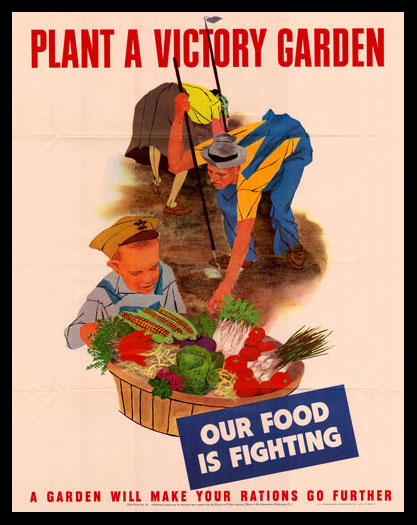 Plant a Victory Garden poster