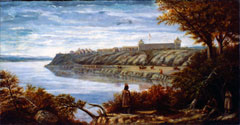 De Trobriand Painting of Fort Berthold