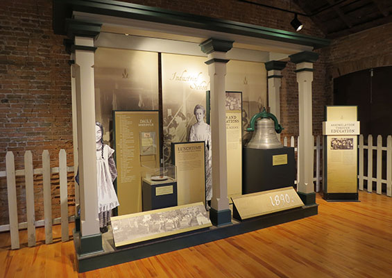 Exhibit at Fort Totten State Historic Site