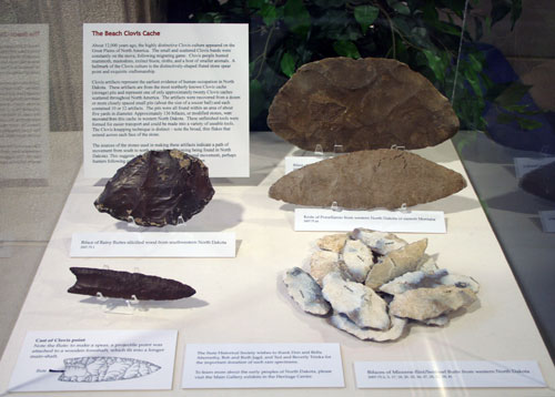 Clovis Case in Heritage Center Lobby