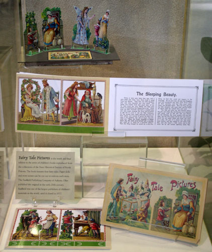 Fairy Tale Pictures Reprint Case in Heritage Center Lobby