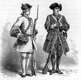 sketch of French soldiers