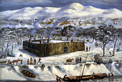 Ft. Mandan in Winter