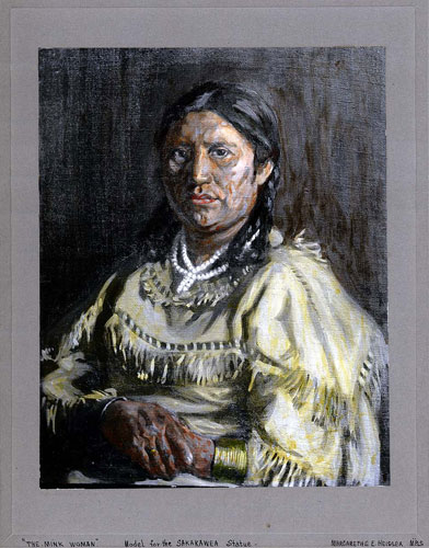 Mink Woman Painting