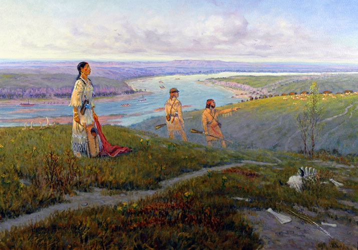 Sakakawea Over Yonder Painting