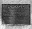 Plaque on Base of Sakakawea Statue