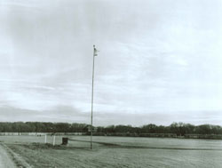 Fort Abercrombie and a Flag Pole