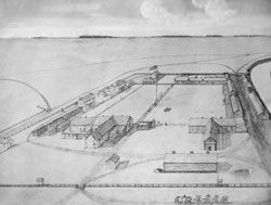 Fort Abercrombie pencil drawing
