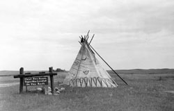 Chief Two Bear's Tipi Marker