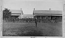 soldiers present arms at Fort Pembina, DT