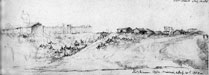 sketch of fort clark, 1880