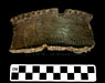 pottery rim sherd with braced rim