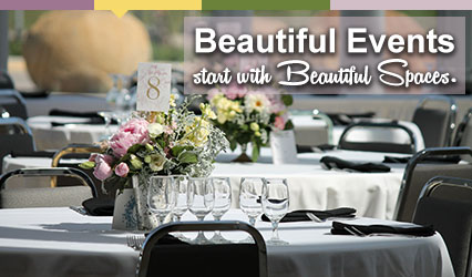 Beautiful events start with beautiful spaces.