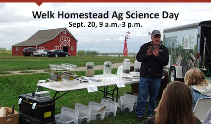 Welk Homestead Ag Science Day - Sept. 30, 9 a.m.-3 p.m.