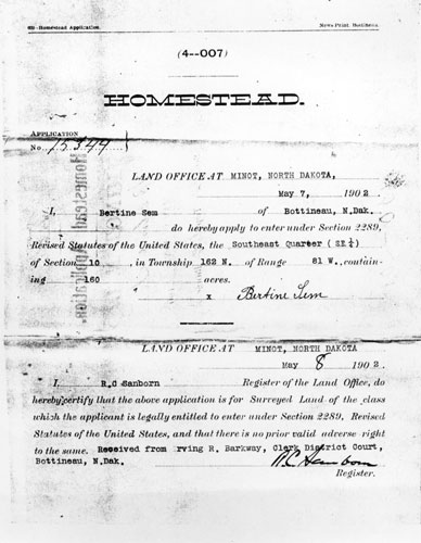 Homestead Document