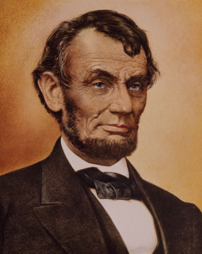 SHSND 13496 Abraham Lincoln Lithographic Print by Sam Patrick