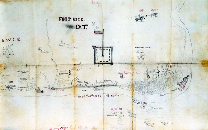 Pencil Drawing of Fort Rice