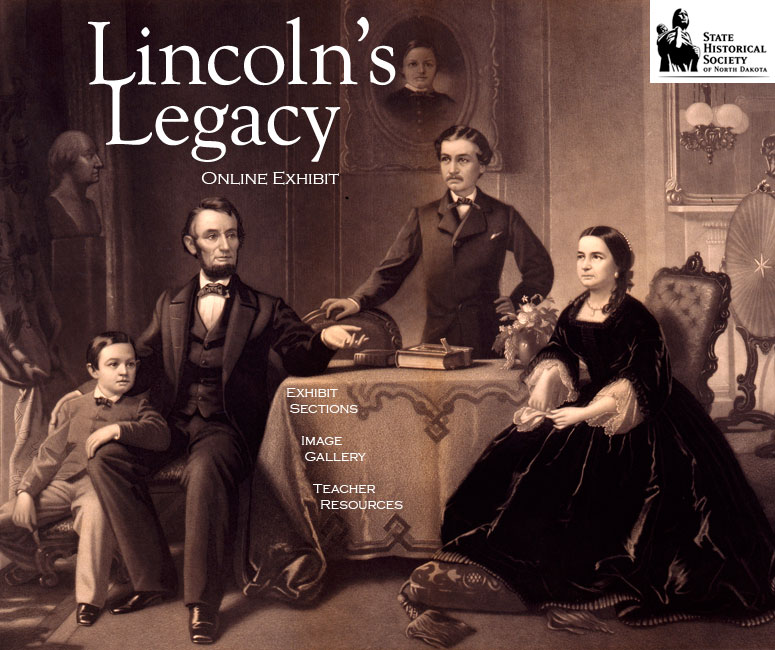 Lincoln Online Exhibit Splash Page