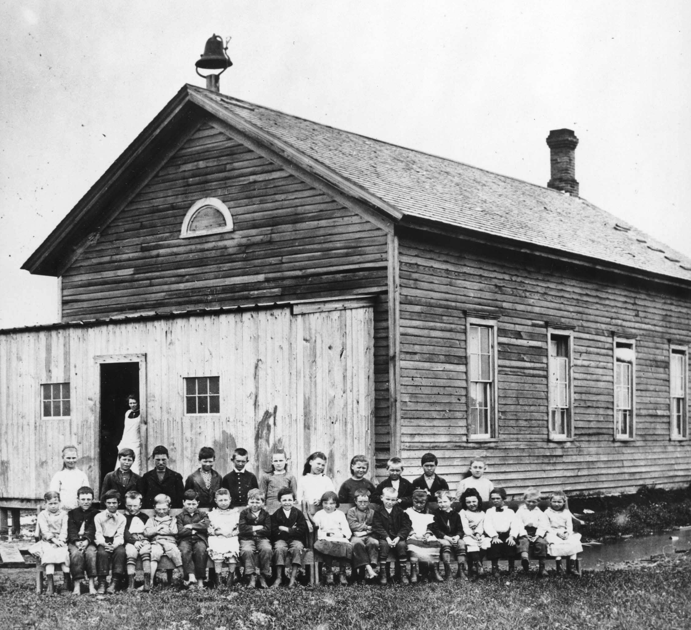 North dakota pembina county cavalier - Schoolhouse In Fargo 1878 Shsnd C0552