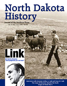 north dakota history vol. 72, numbers 1 and 2