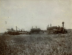 threshing, Whapeton,ND