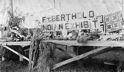 typical exhibit at Fort Berthold Fair, 1914