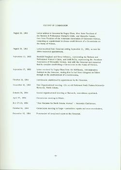 History of the commission document